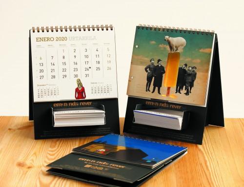 Eman, NDE y Rever lanzan calendarios '2020' con imágenes de cinco artistas