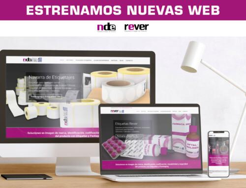 Navarra de Etiquetajes y Etiquetas Rever estrenan sus páginas web